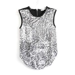 Helmut Lang designer top zebra marble print S euc